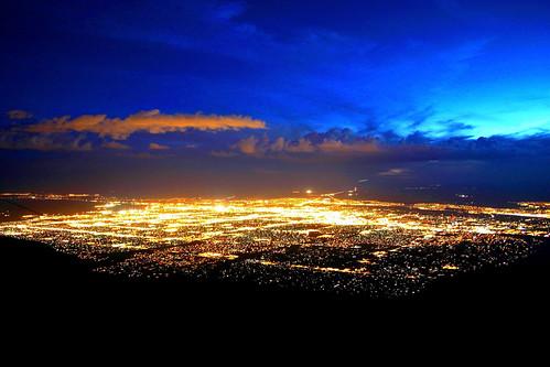 city sunset newmexico clouds albuquerque sandiamountains sandiapeaktramway
