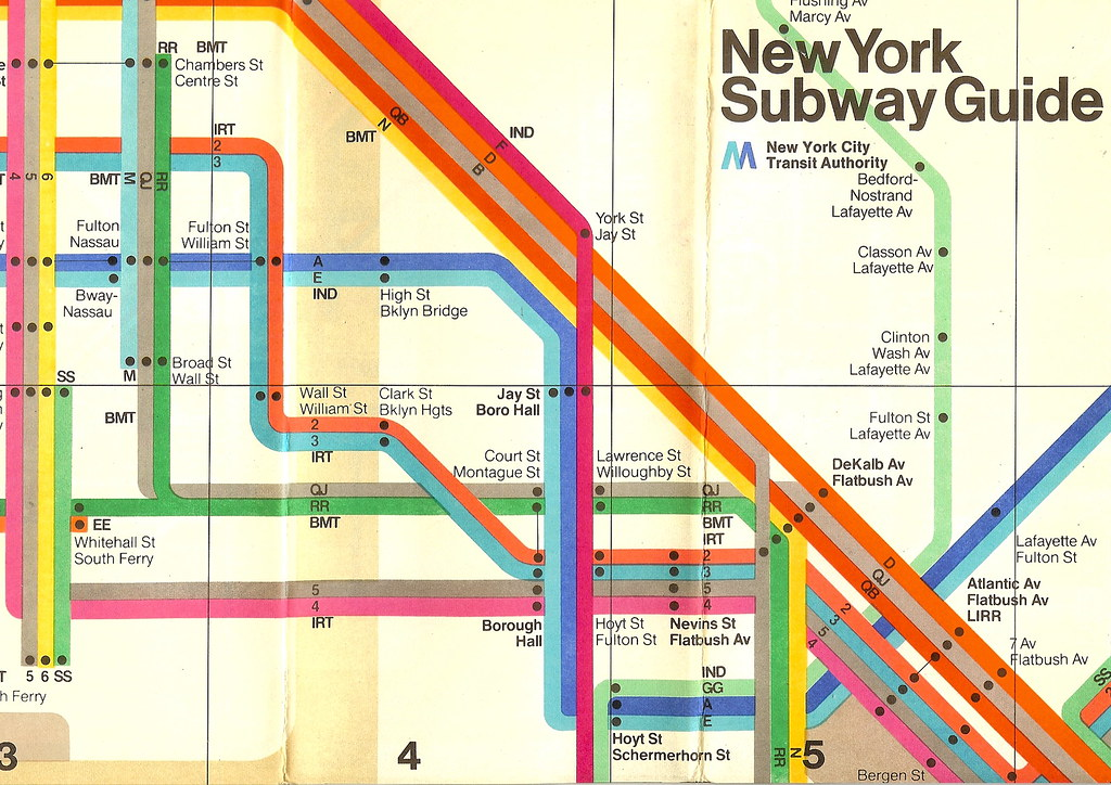 New York Burrows Subway Map.New York Subway Map 1970s In 1972 The Italian Designer Ma Flickr