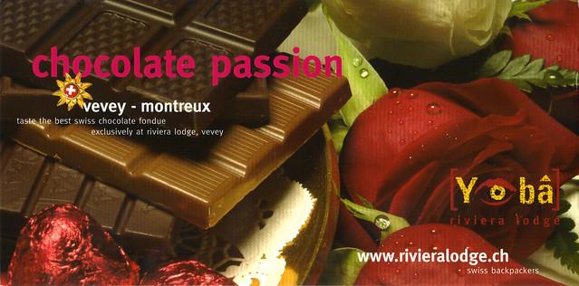 Riviera Lodge Swiss Ad Postcard