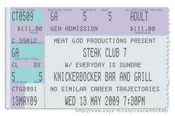 knickerbocker bar and grill steak club 7 ticket | by steakclubseven
