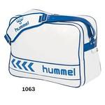 [hummel]エナメルショルダーバッグ(L) HFB3000-1063ホワイト×ロイヤルブルー