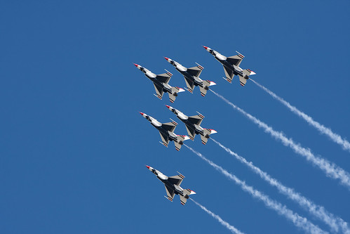Thunderbirds at Hill AFB Airshow 2009   by Aaron Barker