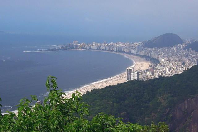 Brazil (Rio de Janeiro) Copacabana Beach view from Sugarloaf mountain