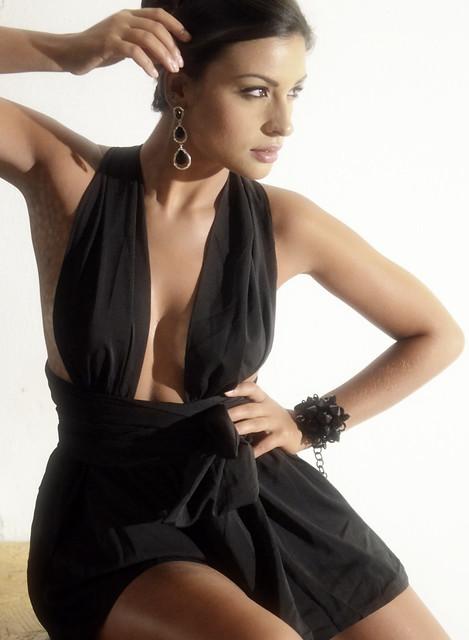 Tess in black