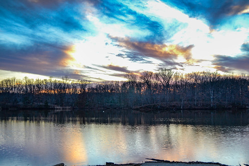 lake sunset altamont nature