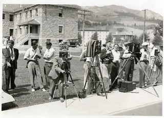 Reporters with Cameras in Yellowstone Park (1951) | by Montana State University (MSU) Library