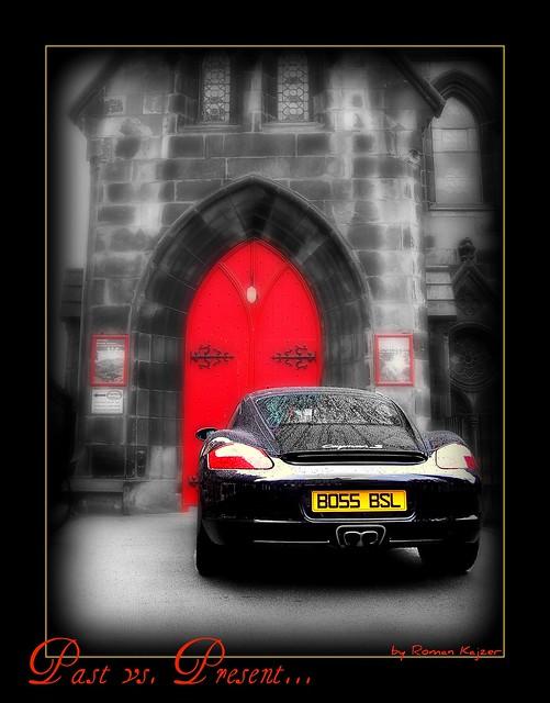 Past vs. Present (Edinburgh Castle vs. Porsche) (EXPLORE)