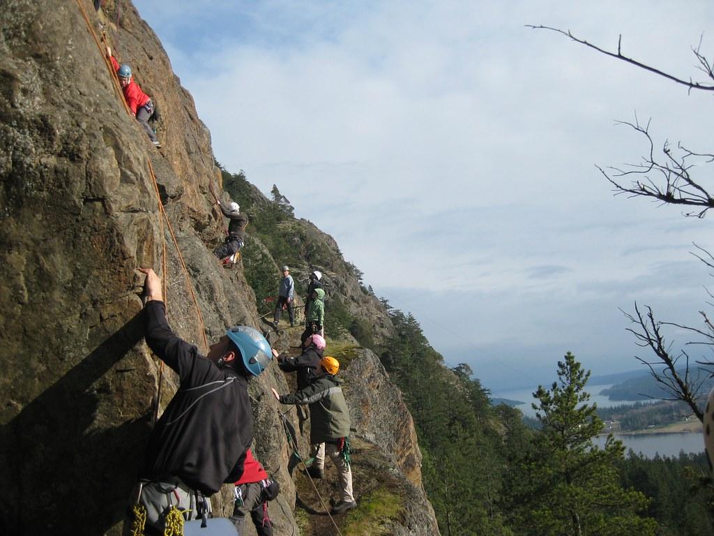 Climbing   Climbing lesson at Mount Erie. Anacortes, WA ...