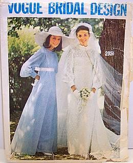 6c8dde593b6 ... Vogue 2058 Vintage 70 s Sewing Pattern Boho Wedding