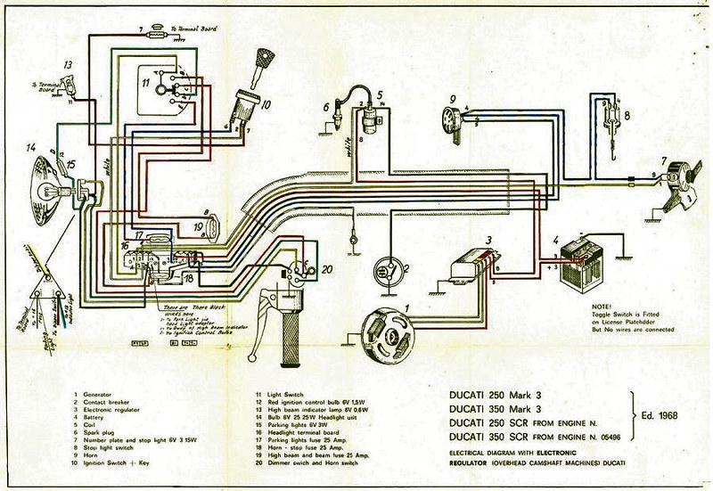 Ducati 350 bevel single wiring diagram   Very important; not…   FlickrFlickr