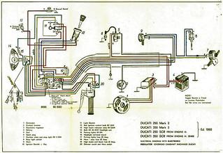 ducati 350 bevel single wiring diagram | very important; not… | flickr  flickr