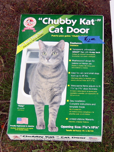 Not chubby kat cat door with