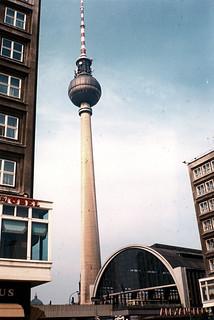 East Berlin 1990 -  The Fernsehturm (TV Tower).