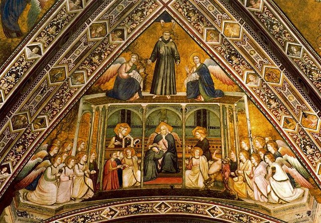 Giotto - Allegoria dell'Obbedienza. Assisi, Basilica inferiore di San Francesco
