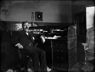 Frederick J.V. Skiff in his office | by The Field Museum Library