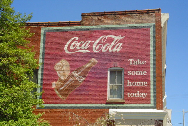 Coca-Cola Ad   Classic old Coke advertisement in Orange, Vir