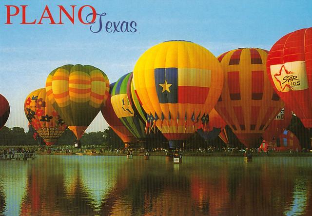 Plano, Texas Balloon Festival Postcard