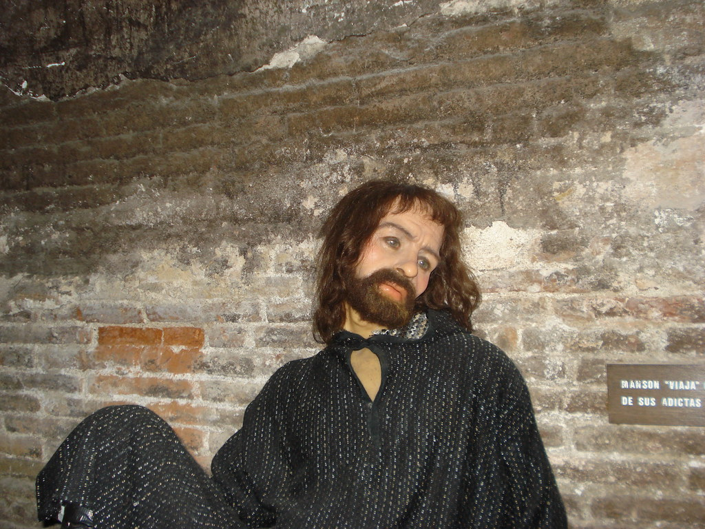 Image result for tussauds wax figure of charles manson\