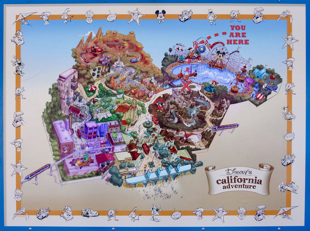 Map Of California Disney.Expansion Map For Disney S California Adventure Park Flickr