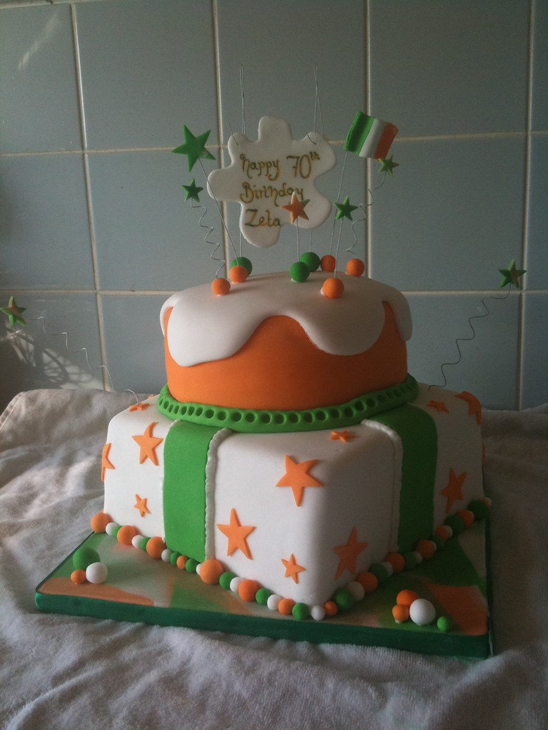 Cool Irish Birthday Cake Inspired By Andreasweetcakes This Was Flickr Personalised Birthday Cards Veneteletsinfo
