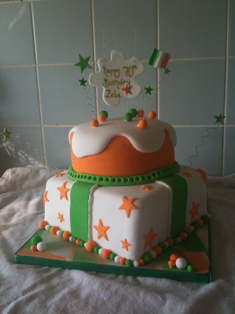 Fabulous Irish Birthday Cake Inspired By Andreasweetcakes This Was Flickr Personalised Birthday Cards Veneteletsinfo