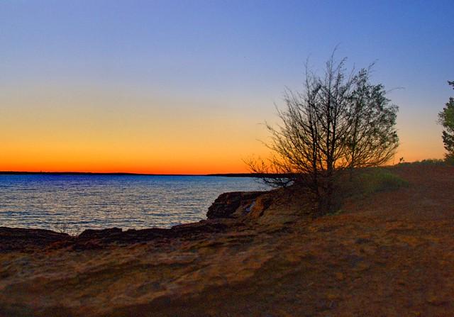 Grapevine Lake Sunset - 8148-1849 redux