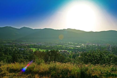 mountains oregon photoshop landscape bluesky grantspass townarialview