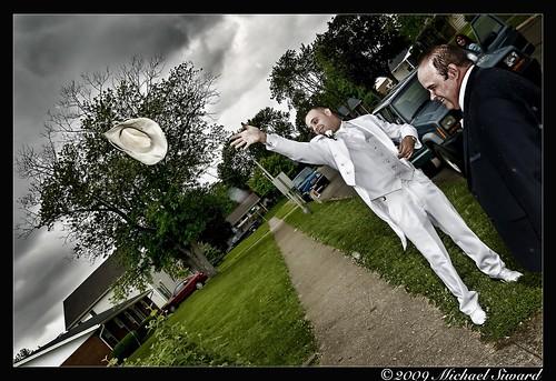 wedding hat groom cowboy