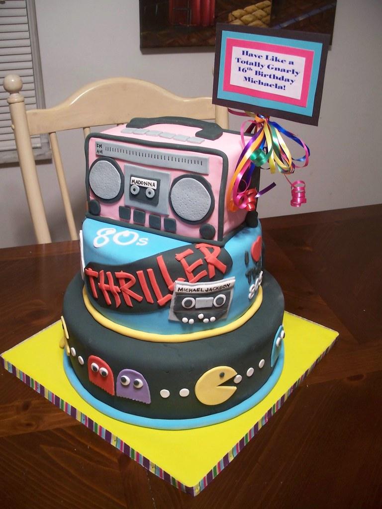 Phenomenal 80S Birthday Cake A Photo On Flickriver Funny Birthday Cards Online Elaedamsfinfo