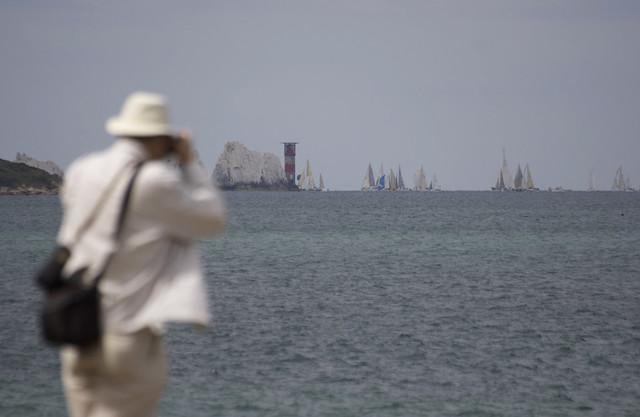 Round the Island Race 2009 - Needles photographer #1