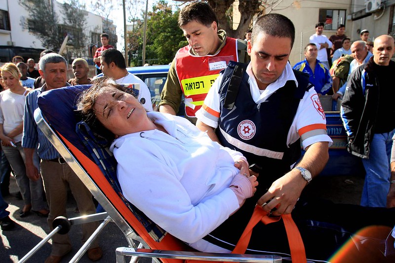 Israeli Woman injured from Rocket