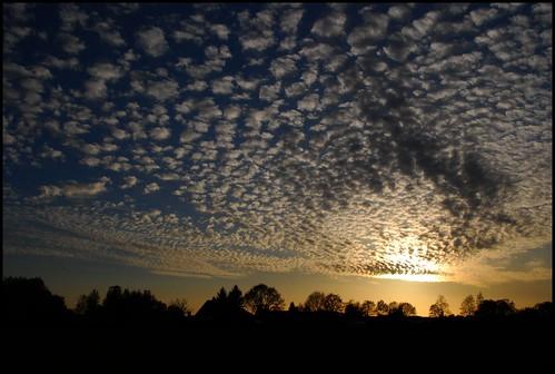 sunset zonsondergang schapenwolkjes mygearandme