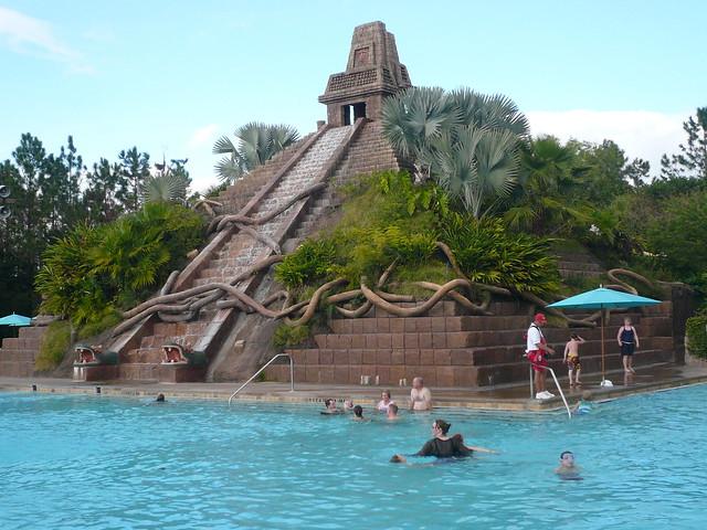 Pyramid Pool at Disney Coronado Springs Hotel