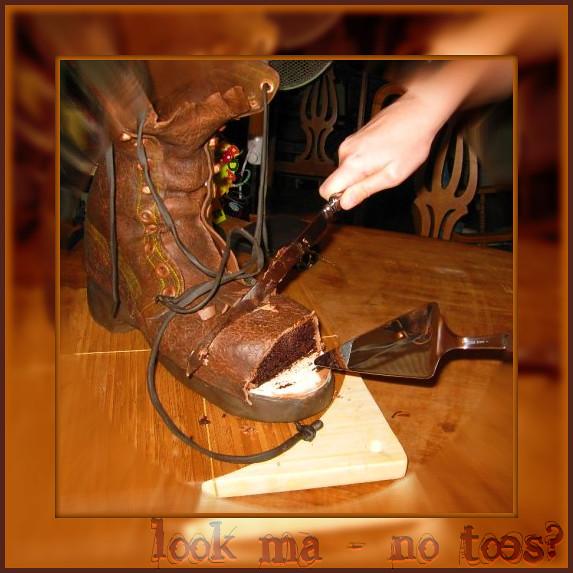 look ma - no toes . . .