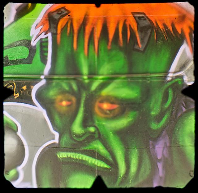 Street Art, Young Street, Fitzroy, Melbourne  (TTV-090319-2154-H)