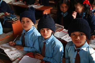 Three young boys Shreeshitalacom Lower Secondary School. Kaski, Nepal | by World Bank Photo Collection