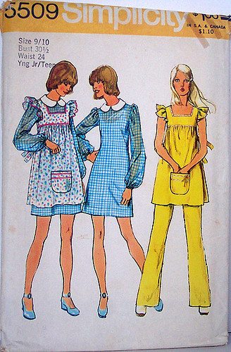 Simplicity 5509 Vintage 70 S Sewing Pattern Youn Junior T