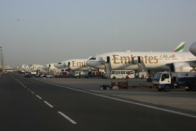 Emirates 777 Line-Up at DXB