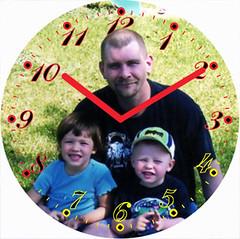 Dad & Kids Clock | by customclockface