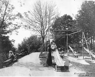 Children on Kinnear Park playground, 1913