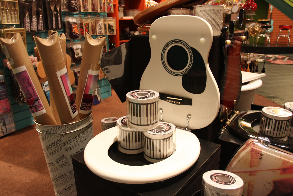 Astounding Guitar Toilet Seat Kathryn Lurie Flickr Machost Co Dining Chair Design Ideas Machostcouk