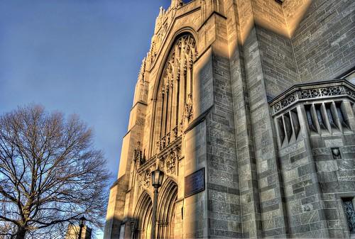 door blue light sunset shadow sky sun tree church architecture dark religious evening high nikon catholic pittsburgh dynamic dusk religion churches nikkor range hdr 18mm d40 d40x evad310 davedicello