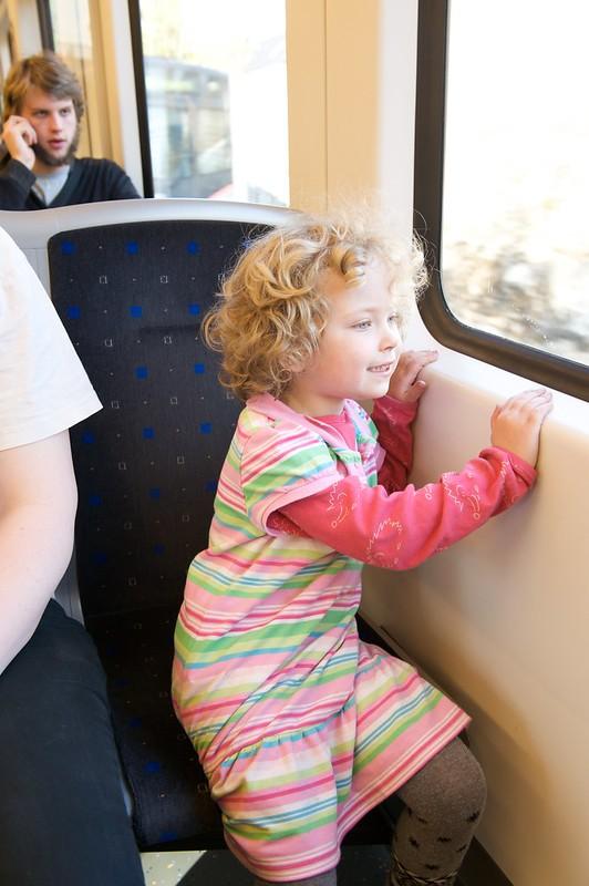 Elizabeth på t-bane