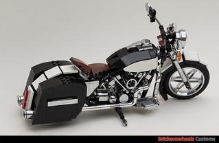 lego harley davidson flh1340 custom in lego 1 10 flickr. Black Bedroom Furniture Sets. Home Design Ideas