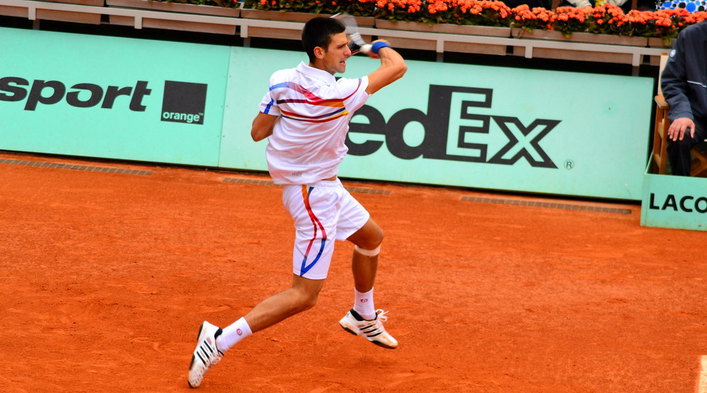 Novak Djokovic Forehand The Serbain Played Against Juan Ma Flickr