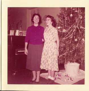 Evelyn and Marie, Christmas 1957