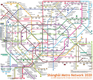 Shanghai Metro Network 2020 | by Kzaral