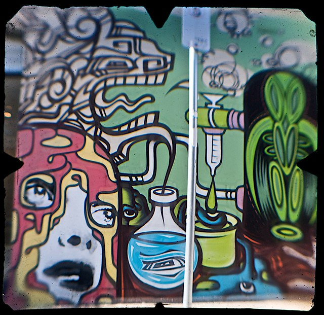 Street Art, Young Street, Fitzroy, Melbourne  (TTV-090319-2137-H)