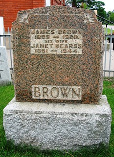 James Brown & Janet Bearss at the Necropolis Cemetery in South Dorchester Twp., Elgin Cty, ON Canada | by Elgin OGS