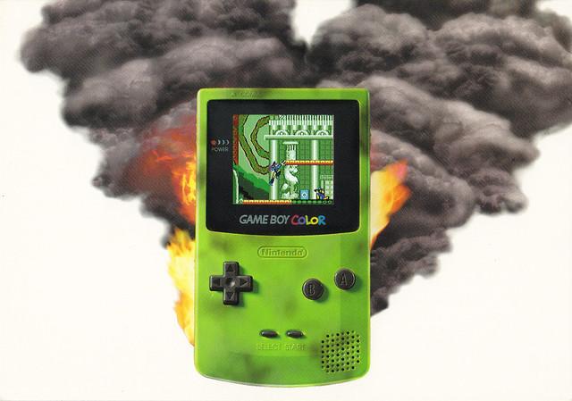 Game Boy Color Ad Postcard
